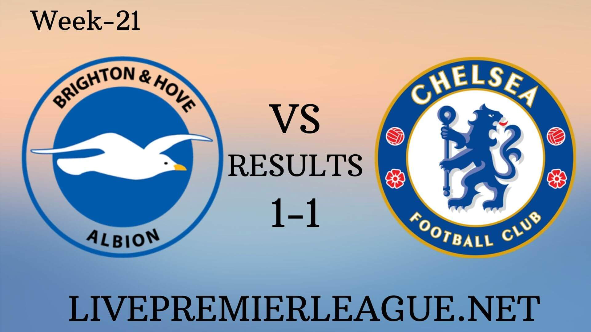 Brighton and Hove Albion Vs Chelsea | Week 21 Results 2019