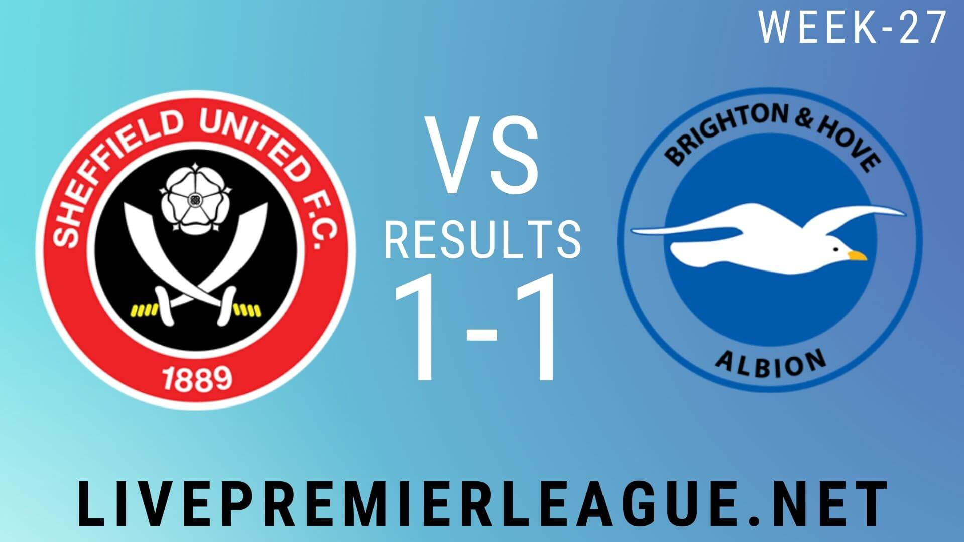 Sheffield United Vs Brighton and Hove Albion | Week 27 Result 2020
